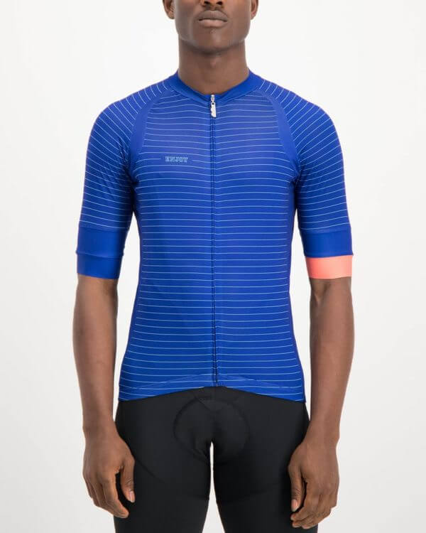 Mens Distinction Octane Cycle Top. Designed and manufactured by Enjoy cycling apparel.