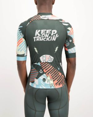 Mens Keep On Truckin ProXision Cycle Top. Designed and manufactured by Enjoy cycling apparel.