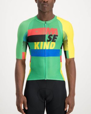 Mens Ma Se Kind Climber Cycling Shirt. The Climber range of cycling shirts by Enjoy are shaved of anything excess so expect tight fitting minimalist cuts that are engineered for flat out racing.