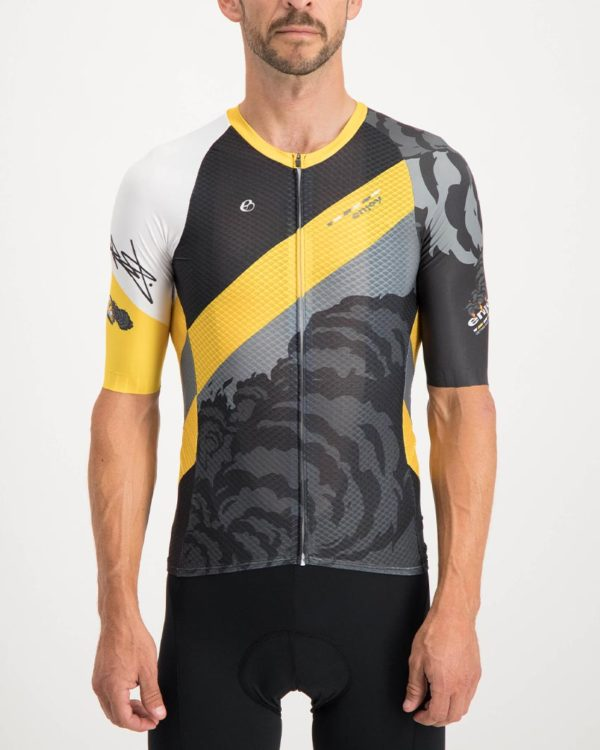 Mens Metro Fail Climber Cycling Shirt. The Climber range of cycling shirts by Enjoy are shaved of anything excess so expect tight fitting minimalist cuts that are engineered for flat out racing.