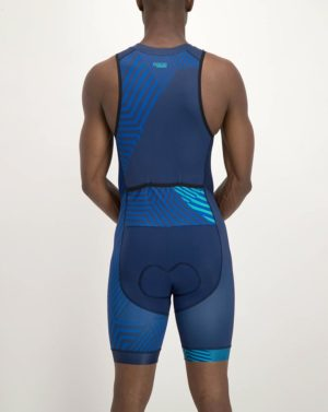 Mens Prismatic Escape Tri Suit. Designed and manufactured by Enjoy cycling apparel.