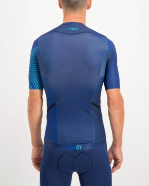 Mens Prismatic Trine Tri Top. Designed and manufactured by Enjoy cycling apparel.