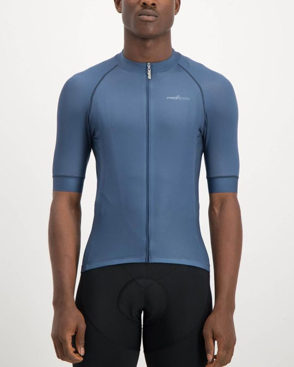 Mens Navy coloured ProXision Cycle Top. Designed and manufactured by Enjoy cycling apparel.