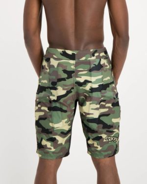 Mens camo coloured Reptilia Enduro Trail Shorts. Designed and manufactured by Enjoy cycling apparel.
