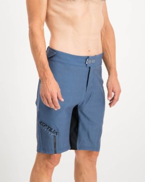 Mens Navy coloured Reptilia Enduro Trail Shorts. Designed and manufactured by Enjoy cycling apparel.