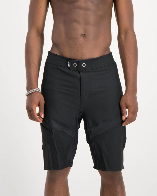 Mens Black coloured Reptilia Trail Shorts. Designed and manufactured by Enjoy cycling apparel.