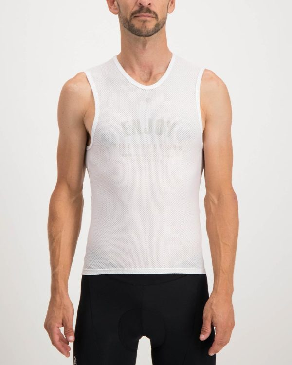 Mens Semester White coloured Regulator. Designed and manufactured by Enjoy cycling apparel.