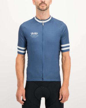 Mens Semester Navy coloured Supremium Cycle Top. Designed and manufactured by Enjoy cycling apparel.