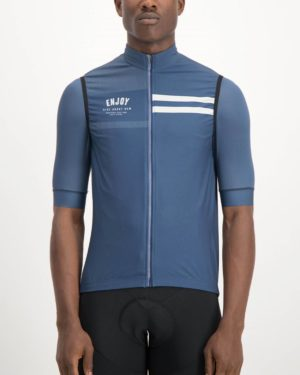 Mens Semester Navy coloured Winter Gilet. Designed and manufactured by Enjoy cycling apparel.