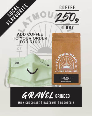 Contagious Smile Facemask Coffee Combo deal brought to you by Enjoy.