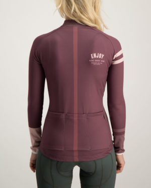 Ladies Semester baroon fleeced Cocoon Cycling Jersey. Designed and manufactured by Enjoy Cycling CLothing.