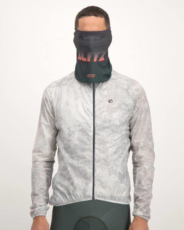 Mens Blitz neckwarmer. Designed by Enjoy Cycling Apparel.