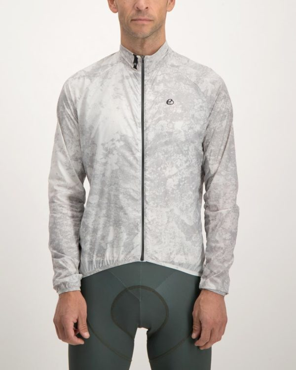 Mens Lichen Atom cycling Jacket. Featuring lightweight windstopper fabric. Designed and manufactured by Enjoy Cycling Apparel.
