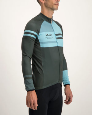 Men's Semester peat fleeced Cocoon riding jersey. Designed and manufactured by Enjoy.
