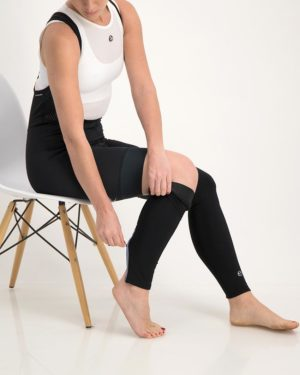 Ladies Mono leg warmers. Designed and manufactured by Enjoy.