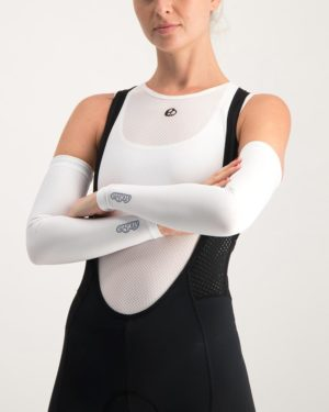 Ladies Mono UV sleeve protectors. Designed and manufactured by Enjoy Cycling Apparel.