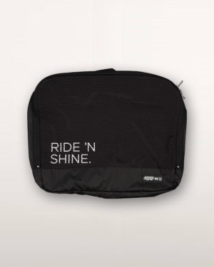 Ride n Shine Racepack travel bag. Designed and manufactured by Enjoy Cycling Apparel.