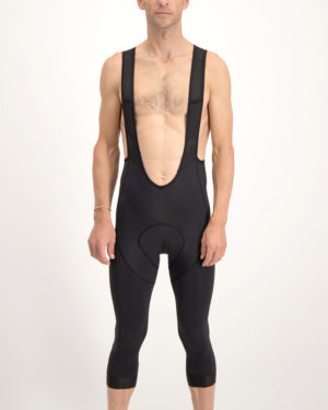 The Enjoy mens ProXision black 3 quarter bib short. The perfect cycling short for when the temperature drops and you need a little extra protection from the elements.