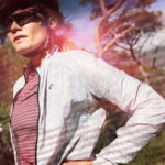 Female Cyclist wearing the Lichen Atom Jacket available at enjoy.cc