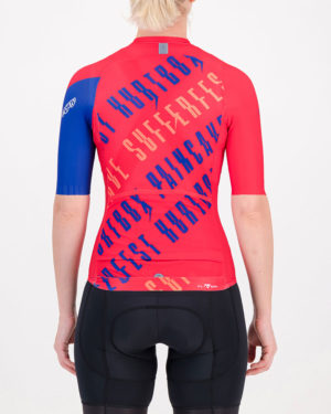 Back of the ladies cycling shirt in the tankwa heat Yes Coach Climber design made by enjoy.cc