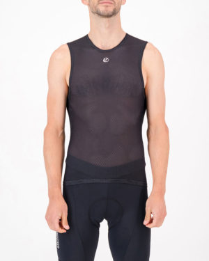 Front of the mens cycling baselayer in the black Emotif design made by enjoy.cc