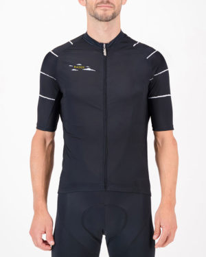 Front of the mens cycling jersey in the Doh Supremium design made by enjoy.cc