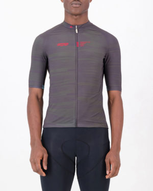 Front of the mens cycling jersey in the peat Input Supremium design made by enjoy.cc