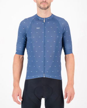 Front of the mens cycling shirt in the hally Cool Breeze Octane design made by enjoy.cc