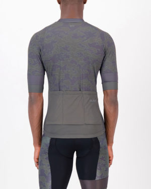 Back of the mens cycling shirt in the Sir Yes Sir Octane design made by enjoy.cc