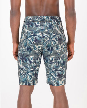 Back of the mens Reptilia Enduro short in the Palm design made by enjoy.cc
